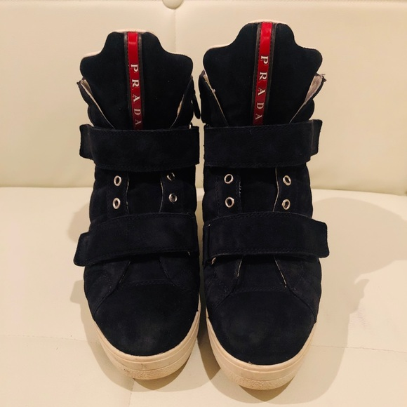 Prada Shoes - Prada hidden wedge fashion ankle sneaker